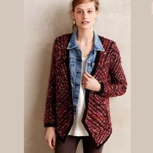 ANTHROPOLOGIE moth multicolor marled wool sweater